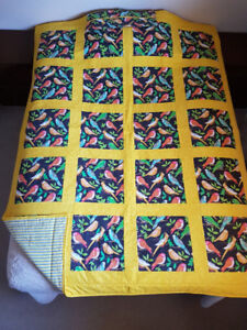 Quilts with matching pillow case.