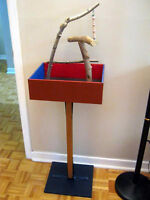 HAND-CRAFTED & HAND PAINTED BIRD GYM