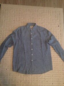 Brand New Blue collared button up shirt  size L