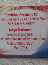 Electrical 24. Hour service PAT test and handyman