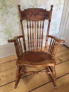 Beautiful antique rocking/nursing chair.