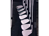 TaylorMade TP MC irons, wedges, putter + bag