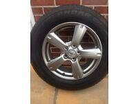 Alloy wheels x4 unmarked condition with Yokohama tyres