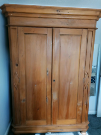 Antique Solid pine wardrobe