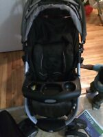 One single stroller and one double stroller Greco.