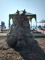 Sand sculpting lessons!