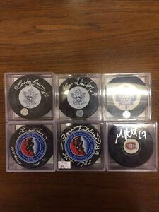 NHL Autographed Pucks