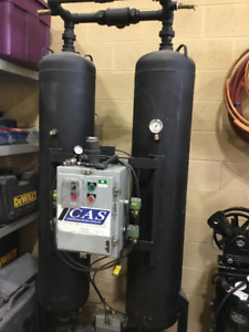 Twin Tower Desiccant Air Dryer For industrial Air Compressor