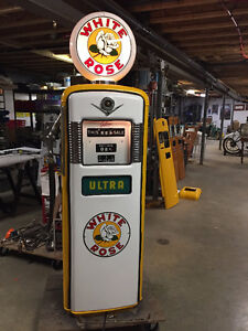 GAS PUMP; Harley, Red Indian, Shell, ALL ORIGINAL vintage parts
