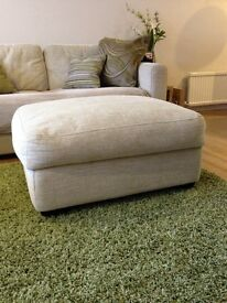 Brand new Christopher Pratts footstool/pouffe with storage