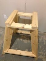 Stand for a table saw or compound mitre saw