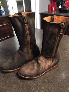 Genuine hand made leather motorcycle boots