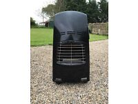 Gas heater with half full gas bottle