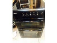 Beko 60 cm black electric cooker in mint condition