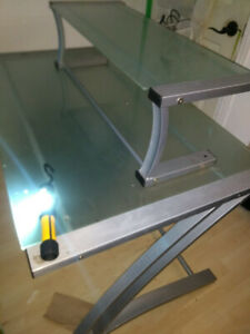 IKEA TEMPERED GLASS TABLE TOP W/EXTRA ON UNDERFRAME