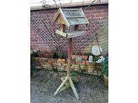 Wooden bird table