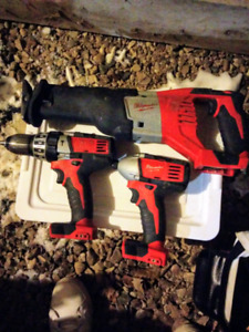 MILWAUKEE 3 TOOL KIT