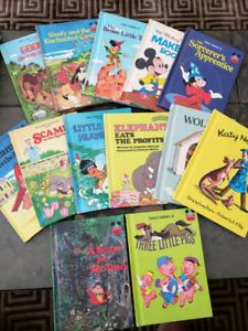 13 VINTAGE Hard Cover children's books classic DISNEY & more!