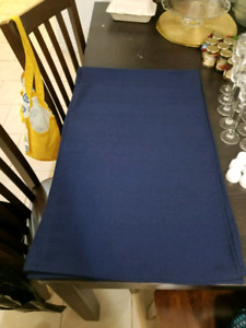 Three 1' x 9.5' Navy Table Runners