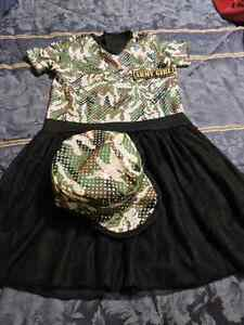Army Girl Costume, size 7-9 - Enfield