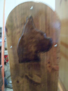 """Price Reduced"" Blanket Stand with Boxer Dog's Head on each end. London Ontario image 4"