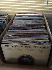 Selection of various vinyl records