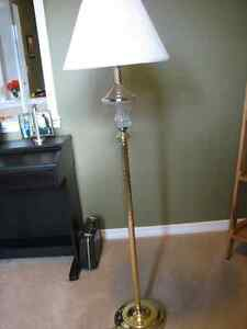 Floor lamp - brass plated