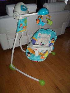 45$ !!!  Balançoire Fisher price thème ours