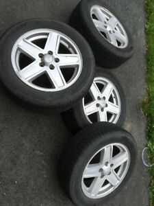 "17"" Tires with OEM Jeep alloy rims"