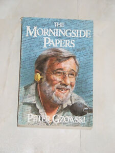 1985 book by Peter Gzowski -- 'The Morningside Papers'