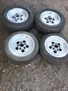 Set of 4, 15 inch tires and rims Stratford Kitchener Area image 1