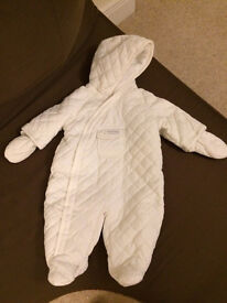 NEW! Winter weight lined baby grow 0-3 months