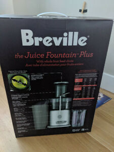 Breville JE98XL Two-Speed Juice Fountain Plus. BRAND NEW!