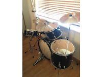 Mapex Tornado lll 22 inch Rock Fusion Drum Kit (Royal Blue)