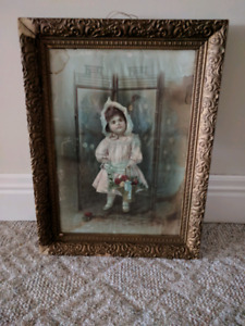 Antique picture and frame.