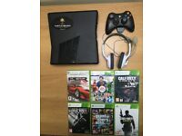 Xbox360 Virtually New with all cables controller and Headset plus 6 games