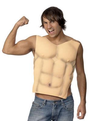Herren Muskel Brust 6 Packung ABS Muskelprotz Kostüm Neuheit - Herren Muskelprotz Kostüm