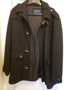 ZARA men large wool jacket excellent condition xl fits large too