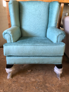 TURQUOISE-BRAND NEW CANADIAN MADE WING CHAIR