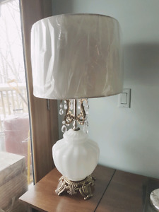 Vintage Chandelier Lamp with New Shade