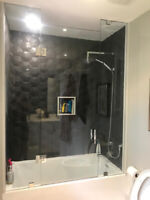 SHOWER GLASS DOOR FRAMELESS ENCLOSURES | Framed Shower Tub Encl