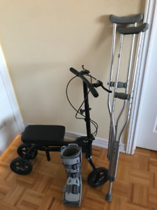 Aluminum Crutches /German , Aircast Shoe,Knee Scooter