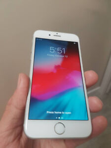 White/Silver Iphone 6S 128 GB UNLOCKED - $330 FIRM