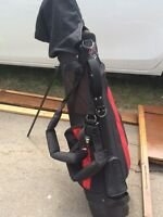 Used golf bag and clubs