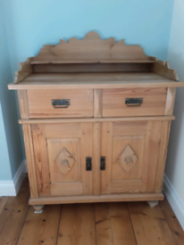 Antique continental pine cupboard