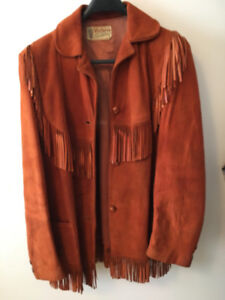 1955 Vintage Fringed Suede Leather Matching Jackets