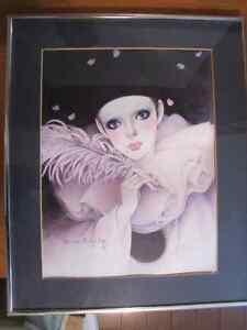 Cadre de Pierrot Mira Fujita encadré
