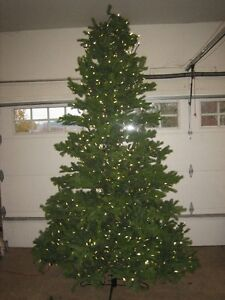 Beautifully lit Christmas tree10ft    PRICE REDUCED