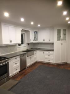 $15K Brand New Custom Kitchen Cabinets & Quartz Countertop