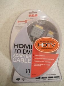 Brand NEW RCA HDMI to DVI adapter cable 10' or 3M